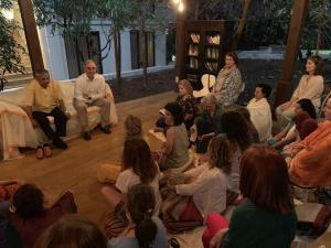Evening meeting - discussions about Philosophy and Ayurveda.