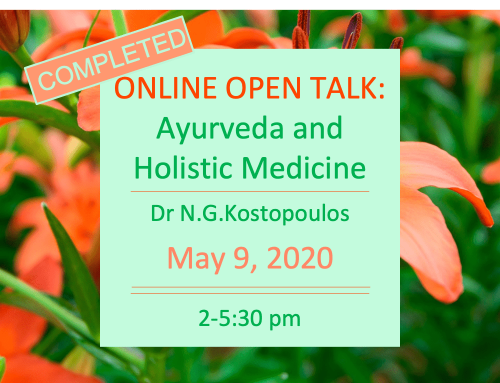Open talk Holistic Health Centre May 16th 2020