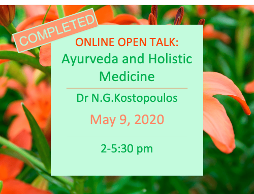 Online Open Talk with Dr N.G.Kostopoulos, 16th May 2020